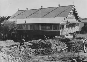 Building site. 1957. Parish Hall.