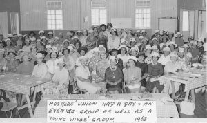 Mother's Union had a day and an evening group as well as a Young Wives' Group. 1963