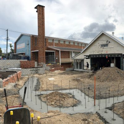 The courtyard is taking shape!
