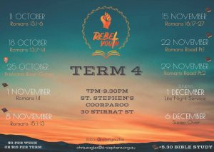 Youth flyer - Term 4 - 2019